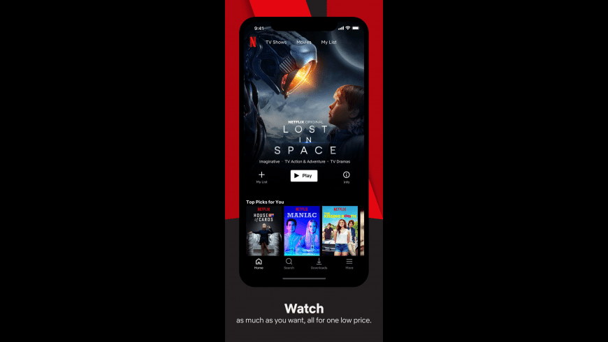 Netflix for Mac - review, screenshots