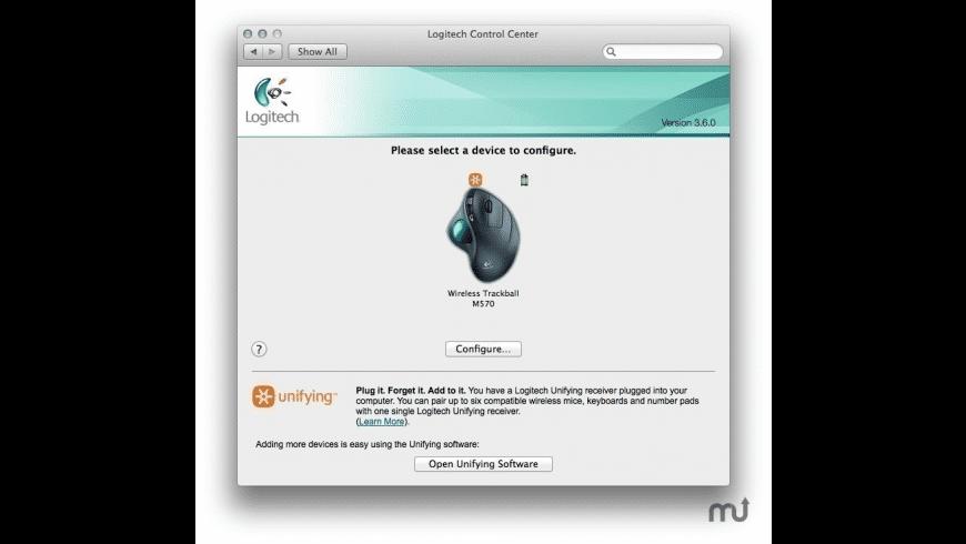 Logitech Control Center for Mac - review, screenshots