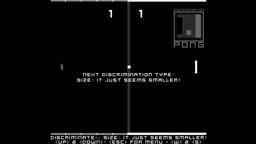 DiscriminationPong for Mac - review, screenshots
