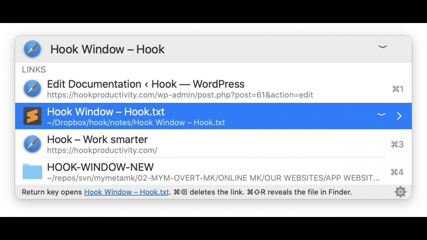 Hook for Mac - review, screenshots