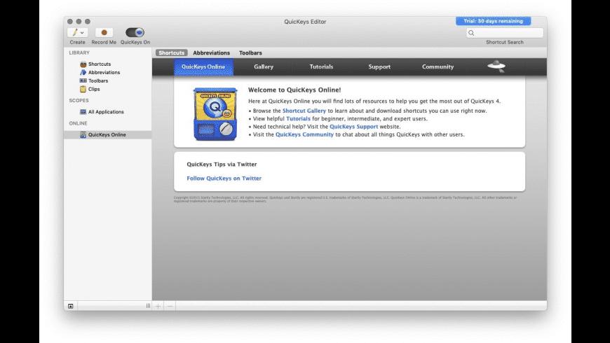 QuicKeys X for Mac - review, screenshots