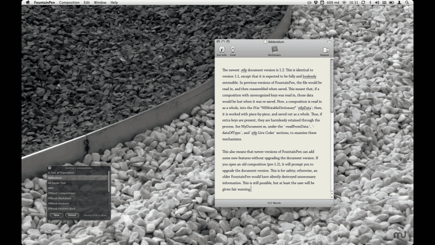 FountainPen for Mac - review, screenshots