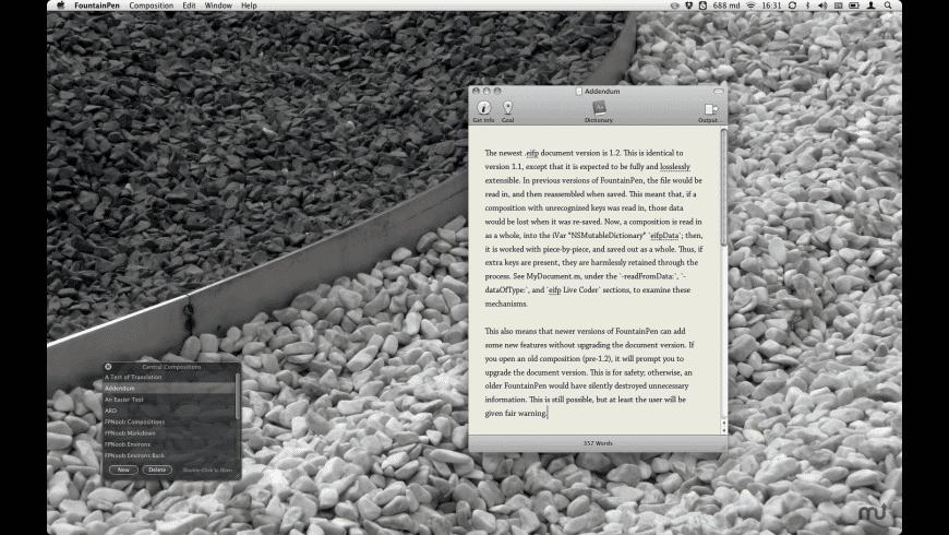 FountainPen for Mac - review, screenshots