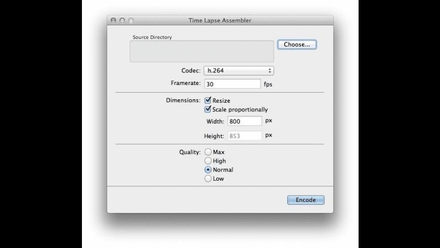 Time Lapse Assembler for Mac - review, screenshots