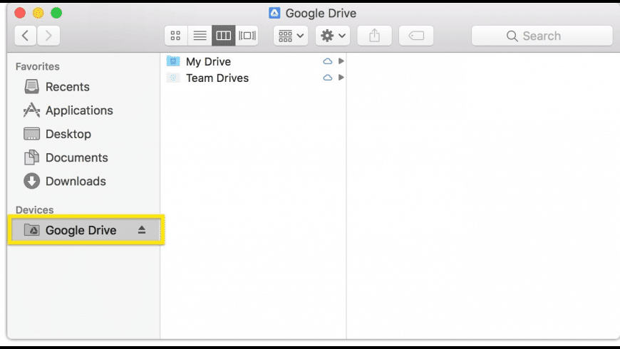 Google Drive File Stream for Mac - review, screenshots
