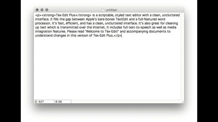 Tex-Edit Plus for Mac - review, screenshots