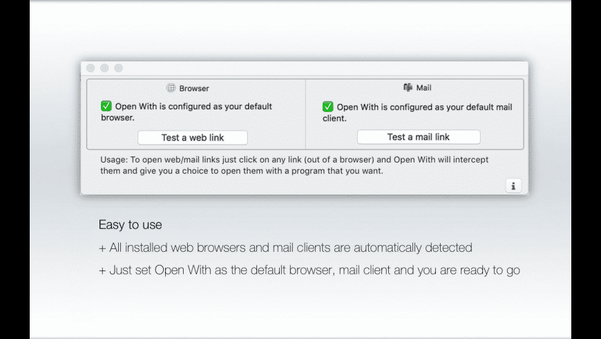 Open With for Mac - review, screenshots