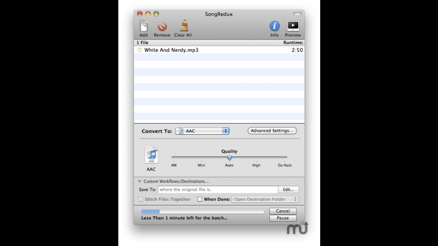 SongRedux for Mac - review, screenshots