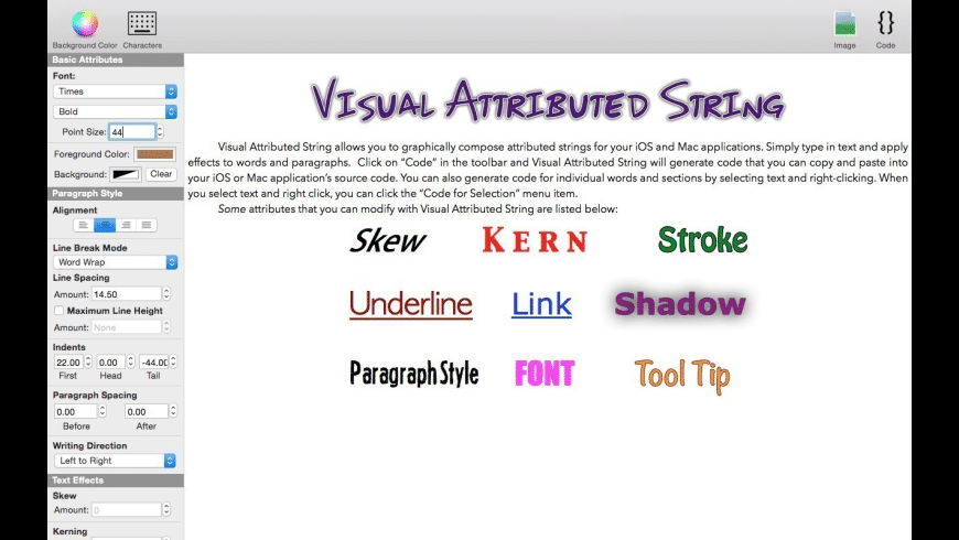 Visual Attributed String for Mac - review, screenshots