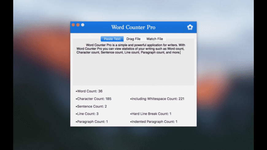 Word Counter Pro for Mac - review, screenshots