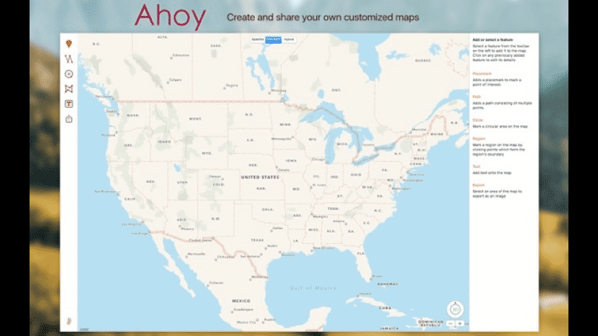 Ahoy Map Maker for Mac - review, screenshots