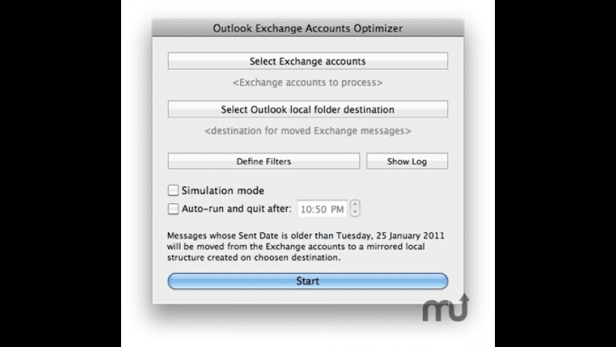 Outlook Exchange Accounts Optimizer for Mac - review, screenshots
