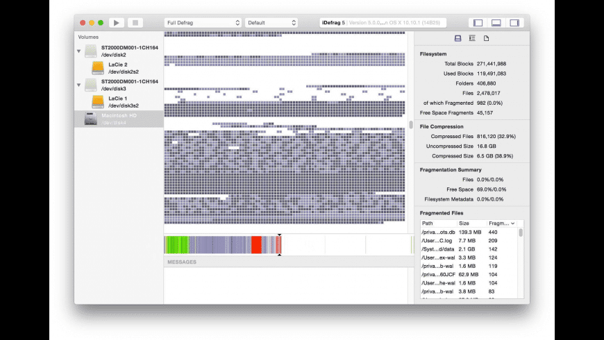 iDefrag for Mac - review, screenshots