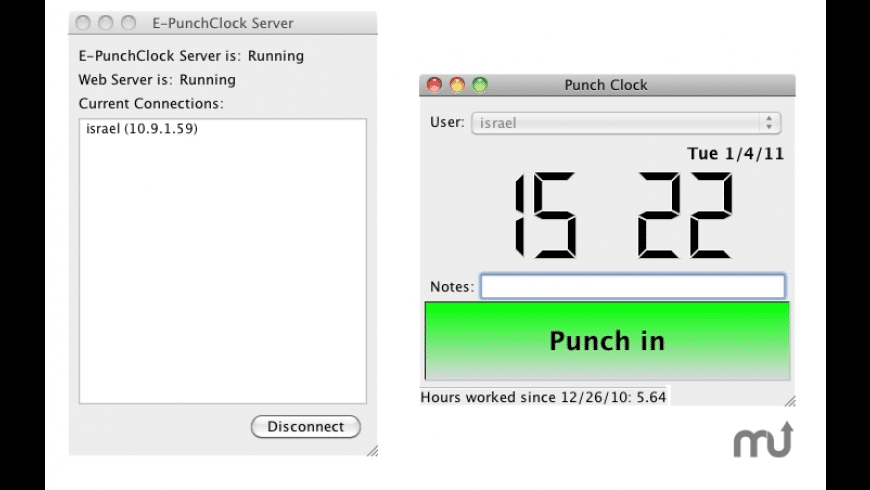 E-PunchClock Server for Mac - review, screenshots