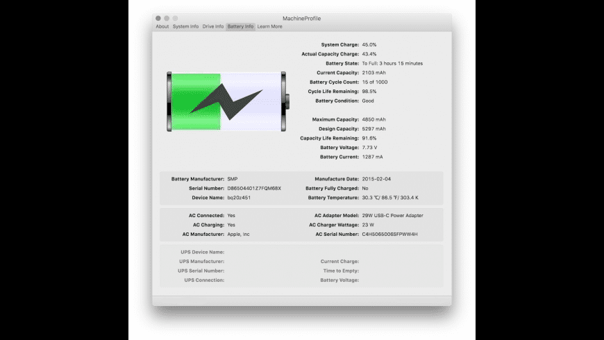 MachineProfile for Mac - review, screenshots
