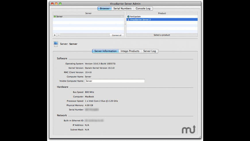 VirusBarrier Server for Mac - review, screenshots
