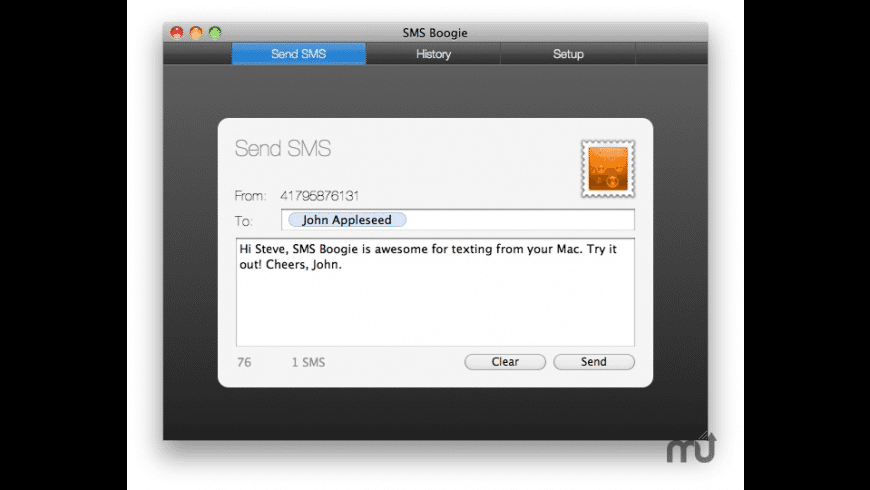 SMS Boogie for Mac - review, screenshots
