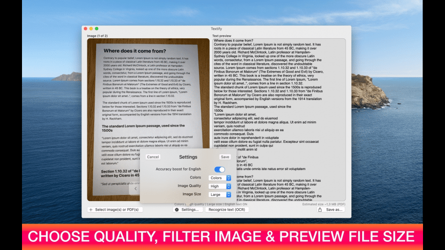 Textify for Mac - review, screenshots