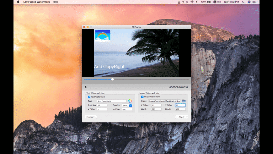 iLove Video Watermark for Mac - review, screenshots