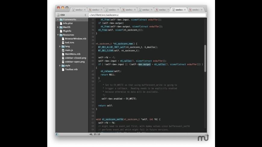 Kod for Mac - review, screenshots