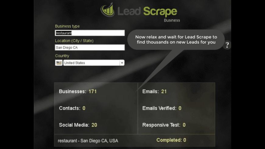 LeadScrape for Mac - review, screenshots