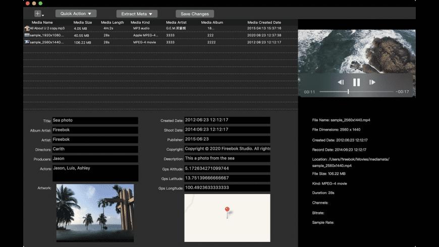 Media Meta for Mac - review, screenshots