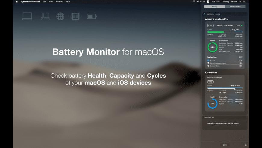 Battery Pulse for Mac - review, screenshots