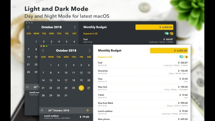 Monthly Expenses for Mac - review, screenshots