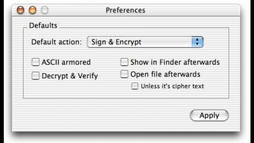 GPGFileTool for Mac - review, screenshots