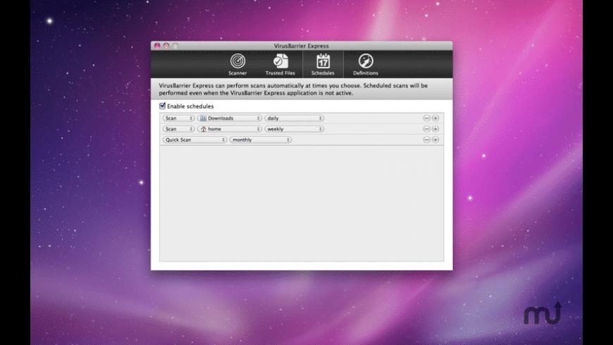 VirusBarrier Express for Mac - Free Download Version 1 1 6