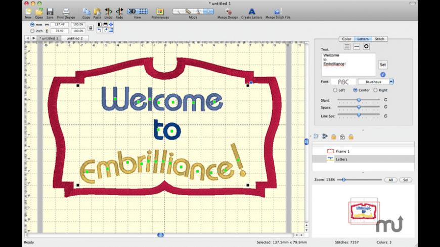 Embrilliance Essentials for Mac - review, screenshots
