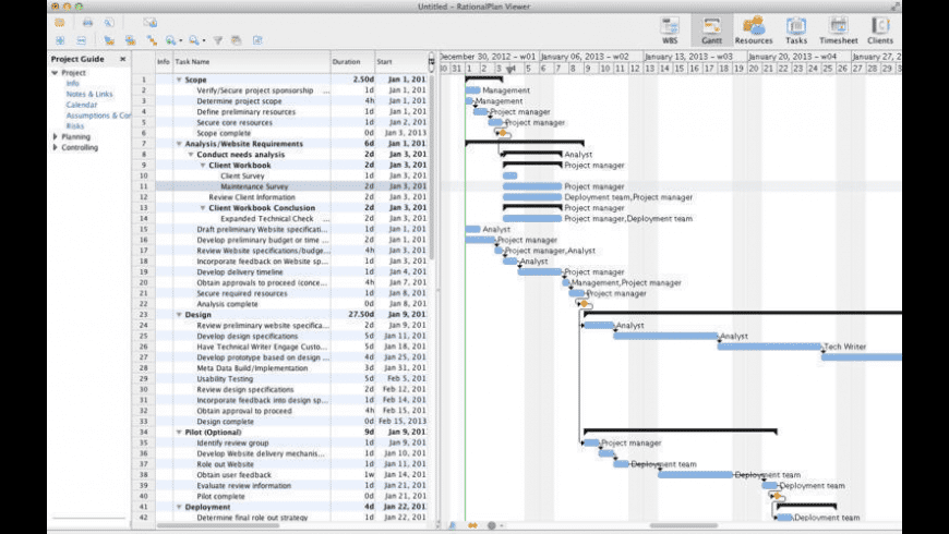 RationalPlan Project Viewer for Mac - review, screenshots