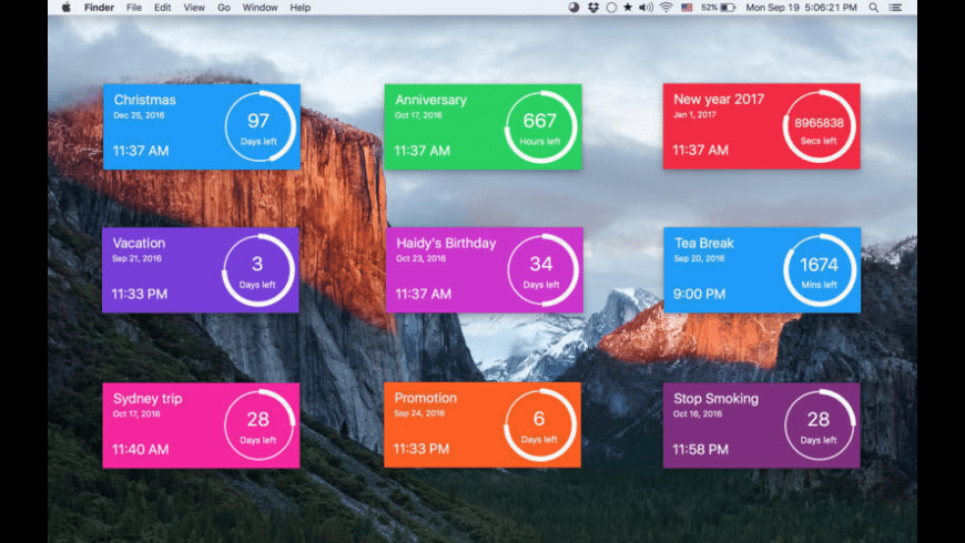 Countdown Timer Plus for Mac - review, screenshots