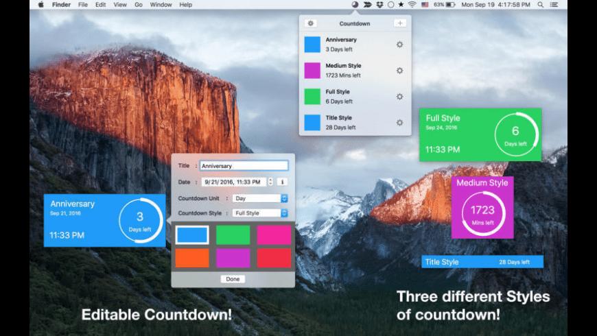 Countdown Timer Plus for Mac - review, screenshots