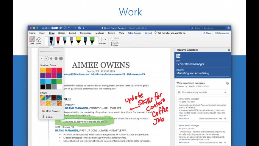Microsoft Word for Mac - review, screenshots