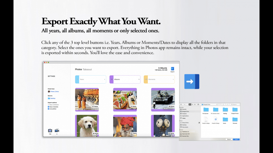 Photos Takeout for Mac - review, screenshots