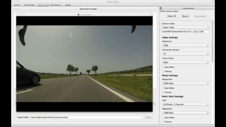 Camera Suite for GoPro Hero for Mac - review, screenshots