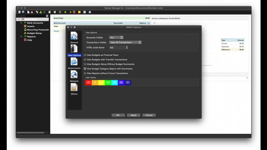 Money Manager Ex for Mac - review, screenshots