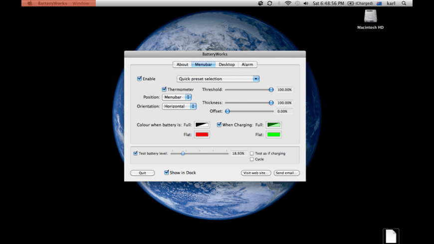 BatteryWorks for Mac - review, screenshots