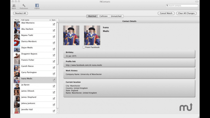 FBContacts for Mac - review, screenshots