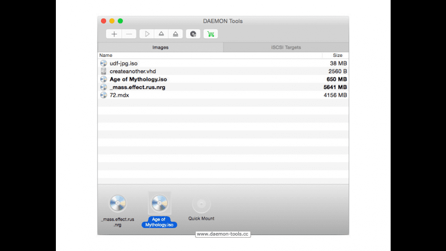 DAEMON Tools for Mac - review, screenshots