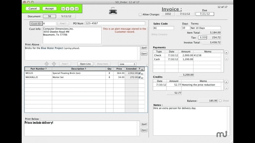 4LightData Invoices for Mac - review, screenshots