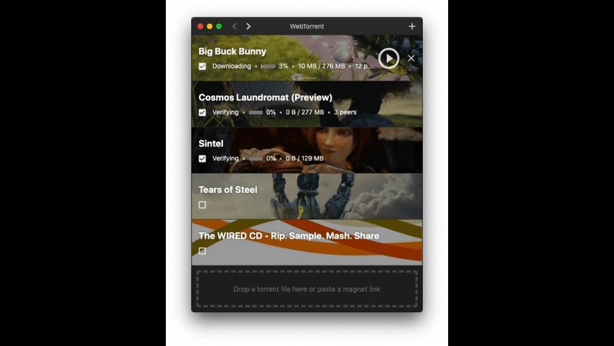 WebTorrent for Mac - review, screenshots
