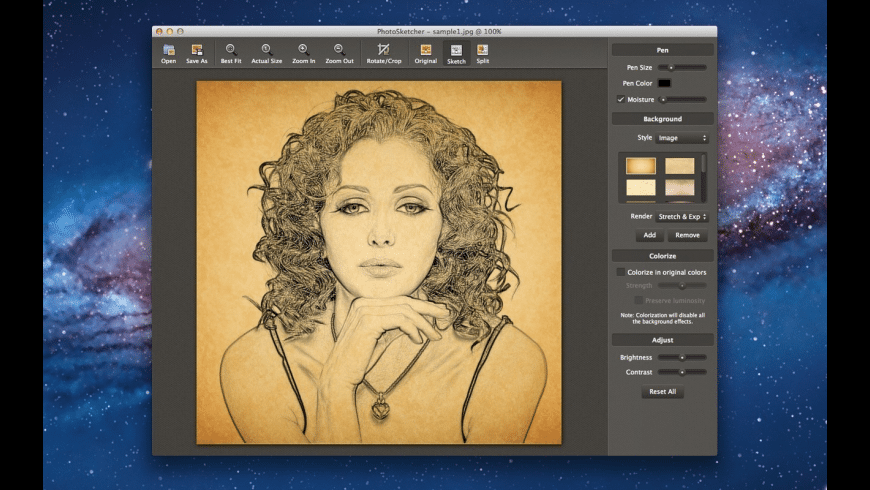 PhotoSketcher for Mac - review, screenshots