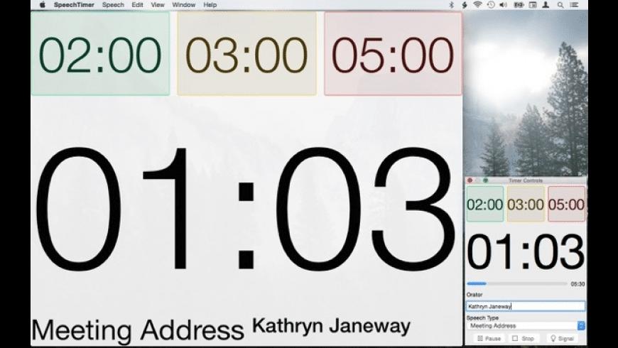 SpeechTimer for Mac - review, screenshots
