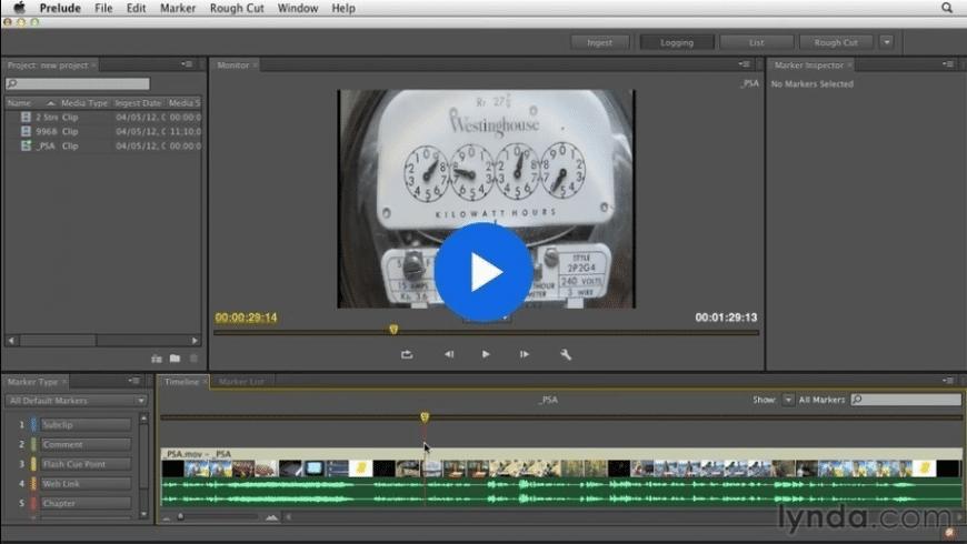 Adobe Prelude CC for Mac - review, screenshots