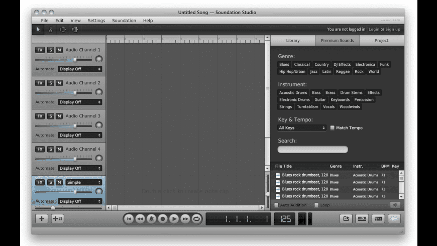 Soundation for Mac - review, screenshots