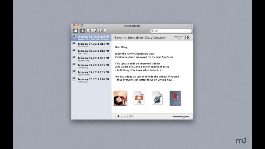 Diary for Mac - review, screenshots