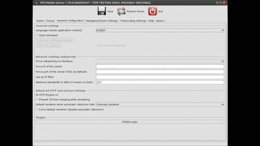 PS3 Media Server for Mac - review, screenshots