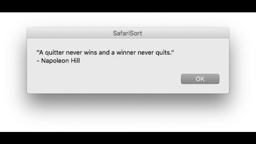 SafariSort for Mac - review, screenshots